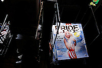 A magazine is seen inside of the Stonewall Inn bar in New York. 25.06.2015. The Stonewall Inn, the birthplaces of the modern gay rights movement, the Greenwich Village bar for the LGBT community was made a New York City landmark on Tuesday,  Eduardo MunozAlvarez/VIEWpress.