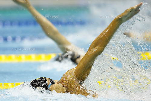 (L-R)<br /> Ryosuke Irie,<br /> Kousuke Hagino,<br /> APRIL 13, 2014 - Swimming : <br /> JAPAN SWIM 2014 <br /> Men's 200m Backstroke Final <br /> at Tatsumi International Swimming Pool, Tokyo, Japan. <br /> (Photo by AFLO SPORT)