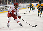 ST CHARLES, MO - MARCH 19:  Sarah Nurse (16) of the Wisconsin Badgers shoots on goal during the Division I Women's Ice Hockey Championship held at The Family Arena on March 19, 2017 in St Charles, Missouri. Clarkson defeated Wisconsin 3-0 to win the national championship. (Photo by Mark Buckner/NCAA Photos via Getty Images)