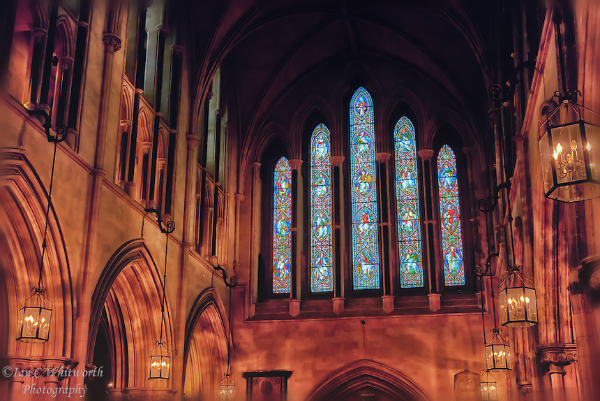An interior view of Christ Church Cathedral in Dublin.