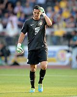 FUSSBALL   1. BUNDESLIGA   SAISON 2013/2014   1. SPIELTAG Eintracht Braunschweig - Werder Bremen             10.08.2013 Torwart Marjan Petkovic (Eintracht Braunschweig) ist enttaeuscht