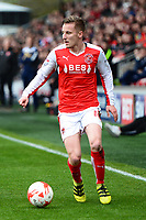 Fleetwood Town's George Glendon in action<br /> <br /> Photographer Richard Martin-Roberts/CameraSport<br /> <br /> The EFL Sky Bet League One - Fleetwood Town v Millwall - Monday 17th April 2017 - Highbury Stadium - Fleetwood<br /> <br /> World Copyright &copy; 2017 CameraSport. All rights reserved. 43 Linden Ave. Countesthorpe. Leicester. England. LE8 5PG - Tel: +44 (0) 116 277 4147 - admin@camerasport.com - www.camerasport.com