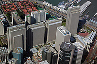 aerial photograph San Francisco Embarcadero Center 101 California in the foreground