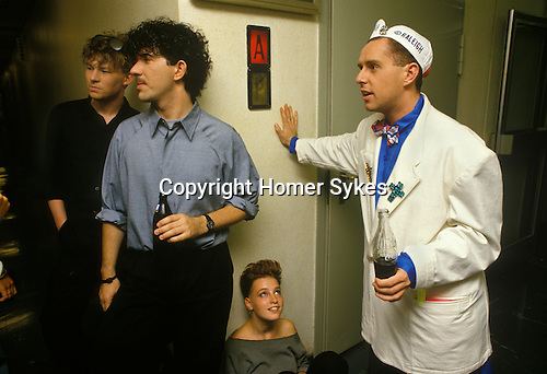 BRIAN NASH PETER GILL FRANKIE GOES TO HOLLYWOOD  HOLLY JOHNSON TEENAGE GROUPIE GIRL TV STUDIO DRESSING ROOMS BACK STAGE GERMANY 1980S