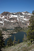 """Half Moon Lake 1"" - Photograph of Half Moon Lake in the Tahoe Desolation Wilderness. Alta Morris Lake can also be seen in the distance."
