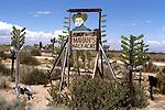 Mahan's Half Acre a folk art roadside attraction was on I-15 near Victorville, CA