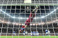 FUSSBALL  EUROPAMEISTERSCHAFT 2012   HALBFINALE Deutschland - Italien              28.06.2012 Torwart Gianluigi Buffon (Italien) kann retten
