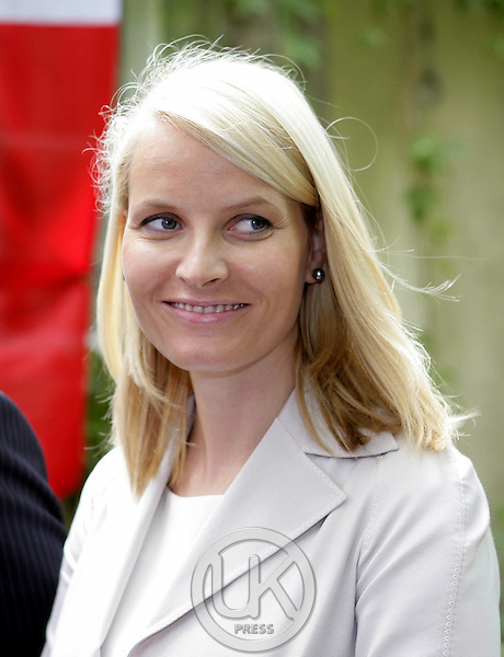 Crown Prince Haakon & Crown Princess Mette-Marit of Norway's three-day visit to Poland..Meeting with the press in Warsaw..