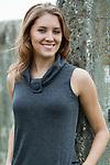 Caucasian brunet woman posing