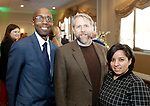 Waterbury, CT- 16 March 2017-031617CM10- Social moments from left, Kevin Taylor, Executive Director of Neighborhood Housing Services of Waterbury, Robert Burns, executive director at the Mattatuck Museum and Maybeth Morales-Davis director of development at Neighborhood Housing Services of Waterbury are photographed during The Neighborhood Housing Services of Waterbury Home Matters dinner and benefit at La Bella Vista inWaterbury on Thursday.   Christopher Massa Republican-American