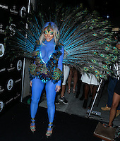 WEST HOLLYWOOD, CA, USA - OCTOBER 31: Aubrey O'Day arrives at Adam Lambert's 2nd Annual Halloween Bash held at Bootsy Bellows on October 31, 2014 in West Hollywood, California, United States. (Photo by Xavier Collin/Celebrity Monitor)