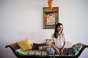 French Designer, Fanny Boucher of Honorine Jewels is seen in her studio in Jaipur, Rajasthan, India.