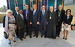 Several members of an ecumenical delegation to Iraq pose on January 22, 2017, in Baghdad. The delegation was organized by the World Council of Churches.