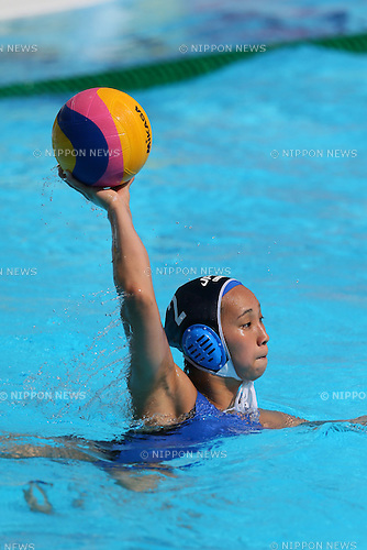 Chiaki Sakanoue (JPN), <br /> JULY 28, 2015 - Water Polo :<br /> 16th FINA World Championships Kazan 2015<br /> Men's Preliminary Round<br /> match between Brazil 11-8 Japan<br /> at Water Polo Arena in Kazan, Russia.<br /> (Photo by Yohei Osada/AFLO SPORT)