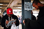 People register their names to vote in New York, United States. 08/10/2012. Photo by Kena Betancur / VIEWpress.