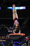 21 APR 2012:  Geralen Stack-Eaton of the University of Alabama performs on the vault during the Division I Women's Gymnastics Championship held at the Gwinnett Center Arena in Duluth, GA. Joshua Duplechian/NCAA Photos