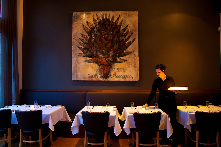 The interior of the newly renovated Castagna dining room in Southeast Portland, Oregon
