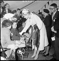 Princess Grace of Monaco attends a Red Cross Party for physically handicapped children at Dublin Zoo in the Phoenix Park. Princess Grace was President of the Red Cross in Monaco..12.06.1961