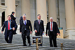 Rep. Barney Frank (D-MA) exits the Capitol with other Members of Congress following a vote on one of his last days as a member of Congress.