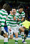 St Johnstone v Celtic...18.12.11   SPL .Gary Hooper celebrates his goal with Ki Sung Yeung.Picture by Graeme Hart..Copyright Perthshire Picture Agency.Tel: 01738 623350  Mobile: 07990 594431