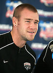 08 December 2005: New Mexico's Brandon Moss during a press conference at SAS Stadium in Cary, North Carolina in preparation for the NCAA Men's Division I College Cup semifinals to be played the following day.