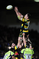 Louis Picamoles of Northampton Saints wins the ball at a lineout. Aviva Premiership match, between Northampton Saints and Sale Sharks on December 23, 2016 at Franklin's Gardens in Northampton, England. Photo by: Patrick Khachfe / JMP
