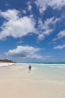 White sand beach near Tulum, Mexico
