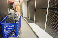 Empty aisles at the soon to be closing Sears store in the New York borough of the Bronx on Sunday, October 26, 2014. Sears Holdings announced that it will close 77 Sears and Kmart stores prior to the Christmas holiday. This is in addition to previously announced closings and over 7000 jobs will be lost. (© Richard B. Levine)