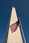 Washington DC USA: The Washington Monument and American flag.Photo copyright Lee Foster Photo # 2-washdc76063