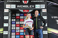 Picture by Alex Whitehead/SWpix.com - 16/05/2017 - Cycling - Tour Series Round 4, Wembley - Matrix Fitness Grand Prix - Ellie Dickinson mainrtains the overall lead of the Matrix Fitness competition.