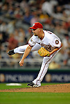 15 August 2008: Washington Nationals' starting pitcher Tim Redding on the mound against the Colorado Rockies at Nationals Park in Washington, DC.  The Rockies edged out the Nationals 4-3, handing the last place Nationals their 8th consecutive loss. ..Mandatory Photo Credit: Ed Wolfstein Photo
