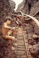 Child labor, mining, Amazon, Brazil.