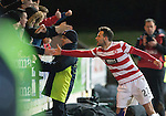 St Johnstone v Hamilton Accies...04.01.15   SPFL<br /> Tony Andreu celebrates at full time<br /> Picture by Graeme Hart.<br /> Copyright Perthshire Picture Agency<br /> Tel: 01738 623350  Mobile: 07990 594431