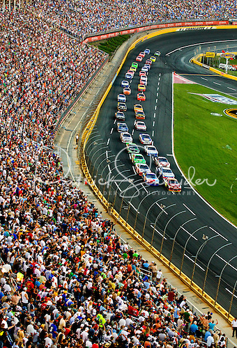 Photo: Thousands of NASCAR fans at the 2012 Coca-Cola 600 race show how popular stock car racing continues to be in Charlotte.