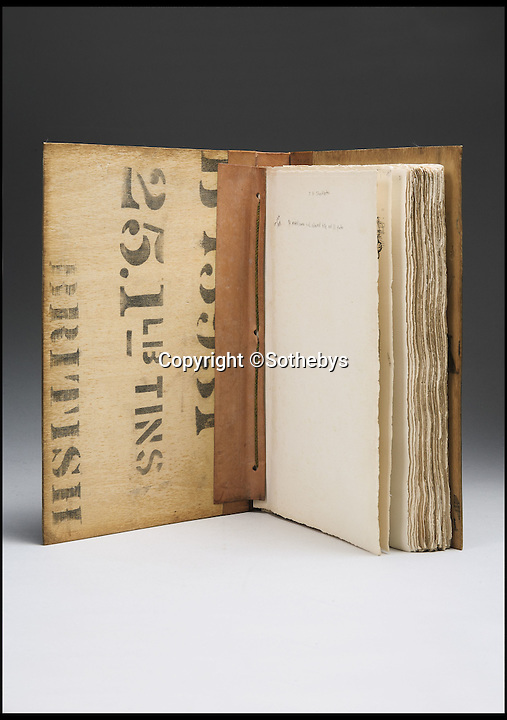 BNPS.co.uk (01202 558833)<br /> Pic: Sothebys/BNPS<br /> <br /> ***Please Use Full Byline***<br /> <br /> The book's interesting casing, made from wooden crates found at the expedition site.<br /> <br /> An incredibly rare copy of the first book published on the Antarctic continent by Ernest Shackleton's expedition team has emerged for sale.<br /> <br /> Experts have described the copy of Aurora Australis as the finest in existence - and have tipped it to fetch upwards of 60,000 pounds when it goes under the hammer.<br /> <br /> The book was produced by Shackleton's men in 1908 during the Nimrod Expedition as a way to stave off boredom during the long winter nights at their remote base camp at Cape Royds on Ross Island.