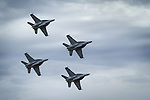RAAF F/A-18 Super Hornets in diamond formation