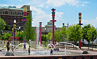 Downtown water fountain park Vicksburg, Mississippi