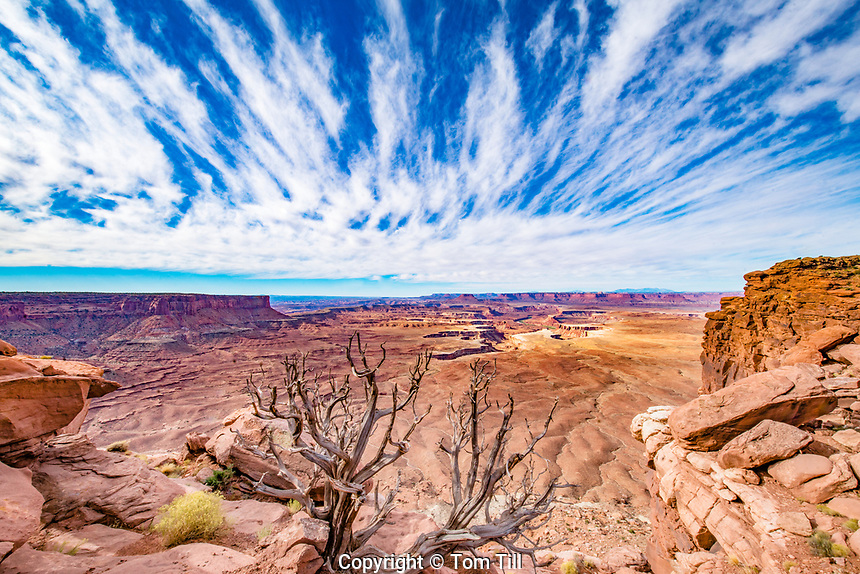 Clouds above Green River Overlook, Canyonland sNational Park, Utah  Island in the Sky District