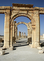 The Agora entrance, 2nd century AD, Palmyra, Syria Picture by Manuel Cohen