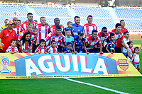 BARRANQUILLA- COLOMBIA -18-03-2017: Los jugadores de Atletico Junior, posan para una foto, durante partido de la fecha 10 entre Atletico Junior y Once Caldas, por la Liga Aguila I-2017, jugado en el estadio Metropolitano Roberto Melendez de la ciudad de Barranquilla. / The players of Atletico Junior, pose for a photo, during a match of the date 10, between Atletico Junior and Once Caldas, for the Liga Aguila I-2017 at the Metropolitano Roberto Melendez Stadium in Barranquilla city, Photo: VizzorImage / Alfonso Cervantes / Cont.