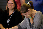 Amanda Knox, right, breaks down as her mother, Edda, smiles during a news conference held  at the Seattle-Tacoma International Airport near Seattle, Washington on October 4, 2011. Knox arrived in the United States after departing Rome's Leonardo da Vinci airport,. Knox's life turned around dramatically Monday when an Italian appeals court threw out her conviction in the sexual assault and fatal stabbing of her British roommate. ©2011. Jim Bryant Photo. All Rights Reserved.