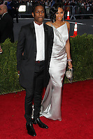 """NEW YORK CITY, NY, USA - MAY 05: ASAP Rocky, Chanel Iman at the """"Charles James: Beyond Fashion"""" Costume Institute Gala held at the Metropolitan Museum of Art on May 5, 2014 in New York City, New York, United States. (Photo by Xavier Collin/Celebrity Monitor)"""