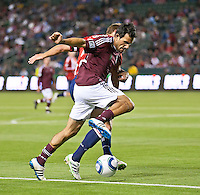 Colorado Rapids midfielder Pablo Mastroeni (25) moves the ball during the first half of the game between Chivas USA and Colorado Rapids at the Home Depot Center in Carson, CA, on March 26, 2011. Final score Chivas USA 0, Colorado Rapids 1.