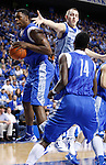 UK sophomore Terrence Jones comes down with a rebound during the first half of the UK Blue-White Scrimmage at Rupp Arena in Lexington, Ky., Oct. 26, 2011. Photo by Brandon Goodwin | Staff