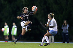 22 October 2015: Notre Dame's Sabrina Flores (8) and North Carolina's Cameron Castleberry (right). The University of North Carolina Tar Heels hosted the Notre Dame University Fighting Irish at Fetzer Field in Chapel Hill, NC in a 2015 NCAA Division I Women's Soccer game. UNC won the game 2-1.