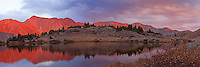 Panoramic sunset at Pass Lake which is at the top of Loveland Pass. This drive offers some gorgeous views.