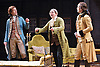 She Stoops to Conquer<br /> by Oliver Goldsmith <br /> directed by James Lloyd<br /> at the Olivier Theatre, Southbank, London, Great Britain <br /> 30th January 2012<br /> <br /> John Heffernan (as Hastings)<br /> Steve Pemberton (as Mr Hardcastle)<br /> Harry Haddon Paton (as Marlow))<br /> <br /> <br /> <br /> Photograph by Elliott Franks