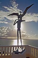 """El Conquistador Hotel, Statue, Little Albratros, Puerto Rico, Caribbean, Island, Greater Antilles, Commonwealth Puerto Rico """"Estado Libre Asociado de"""