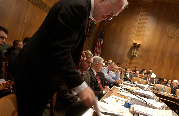 Sen. John Cornyn, R-Texas, attends a Senate Judiciary Committee mark up on immigration reform.