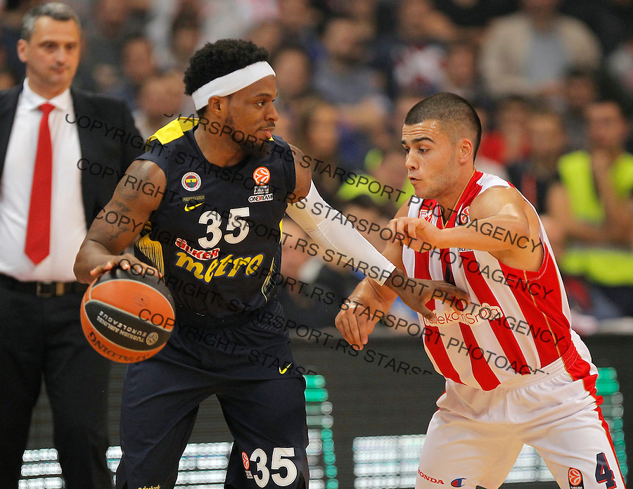 Kosarka Euroleague season 2015-2016<br /> Euroleague <br /> Crvena Zvezda v Fenebahce Istanbul<br /> Bobby Dixon and Nikola Rebic (R)<br /> Beograd, 06.11.2015.<br /> foto: Srdjan Stevanovic/Starsportphoto &copy;